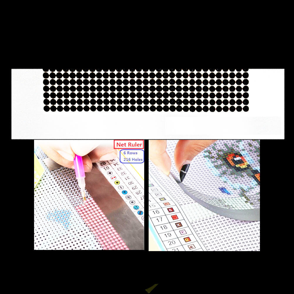 Stainless Steel Patchwork Embroidery DIY Sewing Stitch Diamond Painting Ruler - $9.88