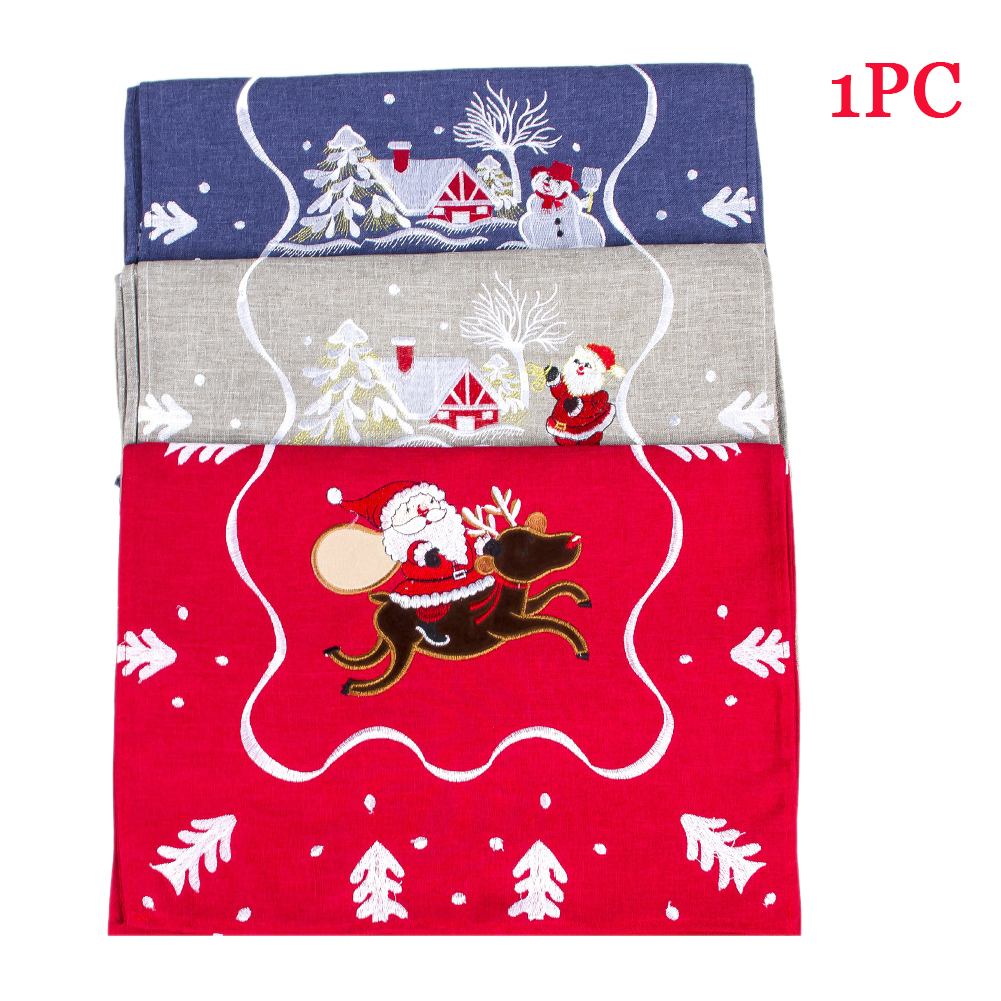 Kitchen Home Embroidered Cover Christmas Table Cloth Rectang
