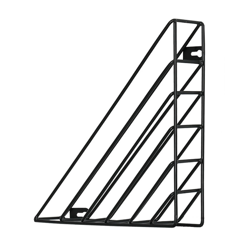 thumbnail 13 - Book Shelf Home Iron Structure Wall Mounted Storage Decorative Triangle Simple