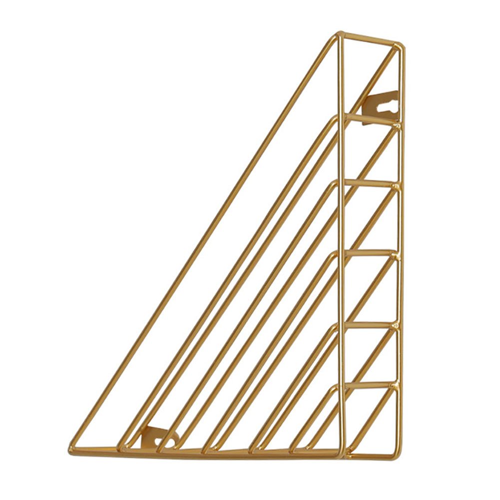 thumbnail 14 - Book Shelf Home Iron Structure Wall Mounted Storage Decorative Triangle Simple