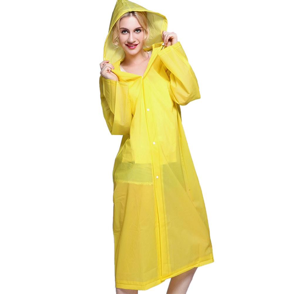 Women-Hooded-Transparent-EVA-Raincoat-Waterproof-Poncho-Long-Sleeve-Coat-Outdoor