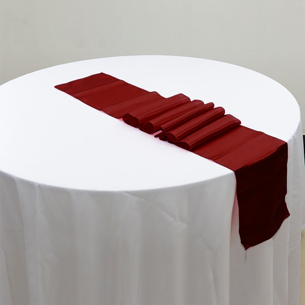 27-x-275cm-19-Colors-Pintuck-Table-Runner-Cloth-for-Wedding-Party-Decoration-New