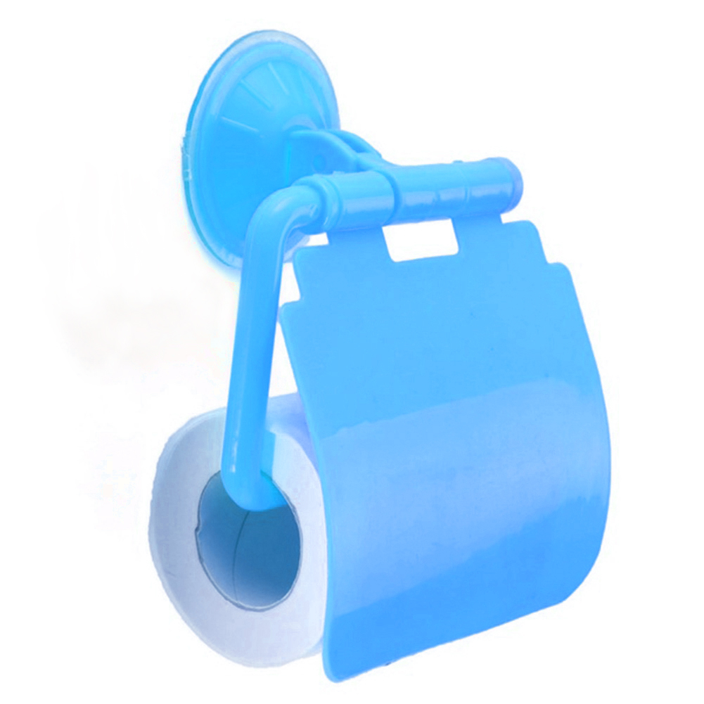 Toilette-Badezimmer-Plastik-Saugnapf-Toilettenpapier-Rolle-Papierhalter-Mode-TAN