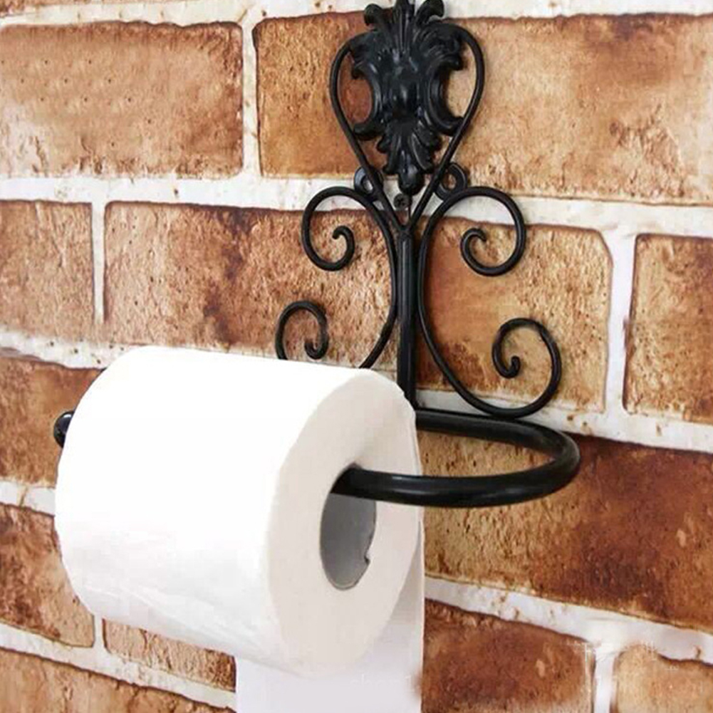 Vintage-Classical-Iron-Toilet-Paper-Towel-Roll-Holder-Bathroom-Wall-Mount-Rack