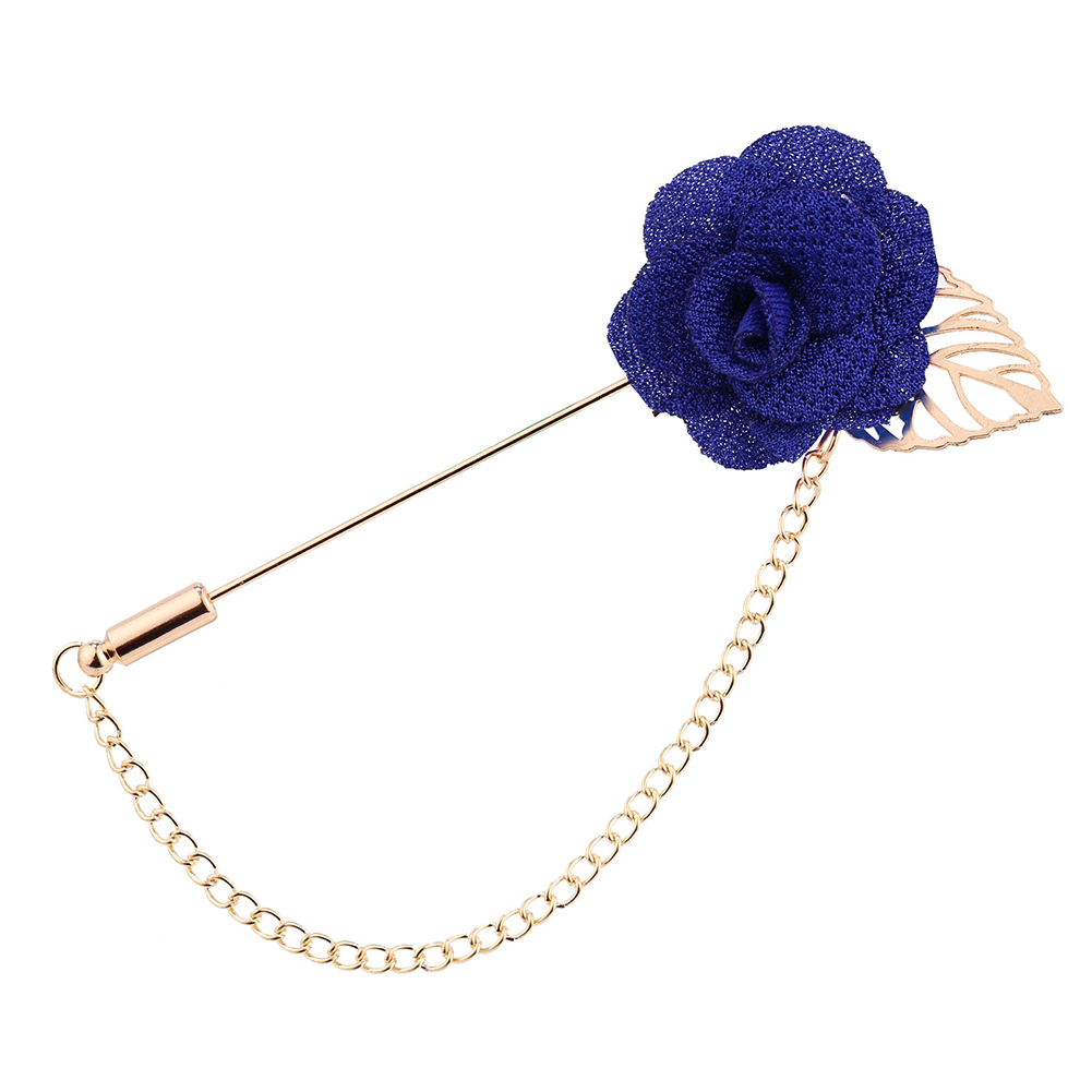 Man-Boutonniere-Badge-Alloy-Fashion-Brooch-Rose-Flower-Suit-Pin-Lapel-Wedding