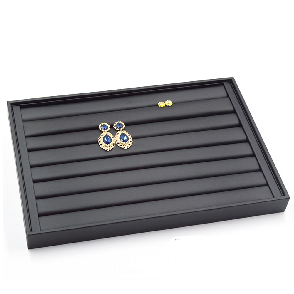 Jewellery-Organiser-Home-Ring-Earring-Display-Tray-PU-Leather-Case-Shop-Bracelet thumbnail 7