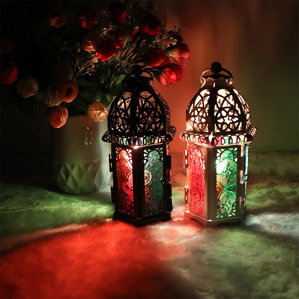 Moroccan-Hanging-Glass-Lantern-Tea-Light-Candle-Holders-Style-Home-Decor-Wedding thumbnail 4