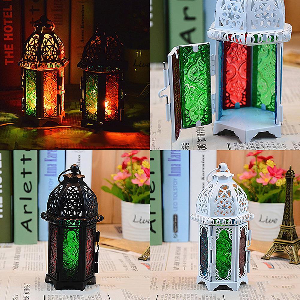 Moroccan-Hanging-Glass-Lantern-Tea-Light-Candle-Holders-Style-Home-Decor-Wedding thumbnail 2