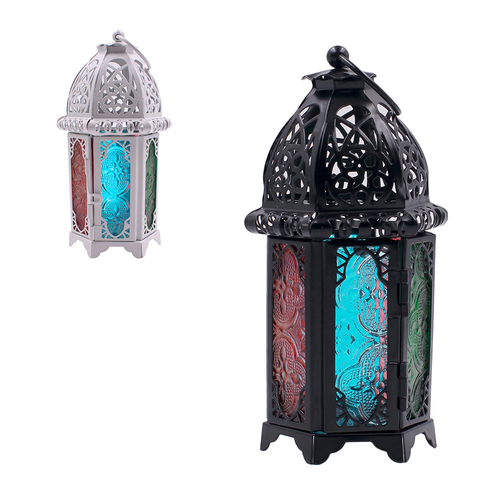 Glass-Metal-Moroccan-Delight-Garden-Candle-Holder-Hanging-Lantern-Lamp-Outdoor