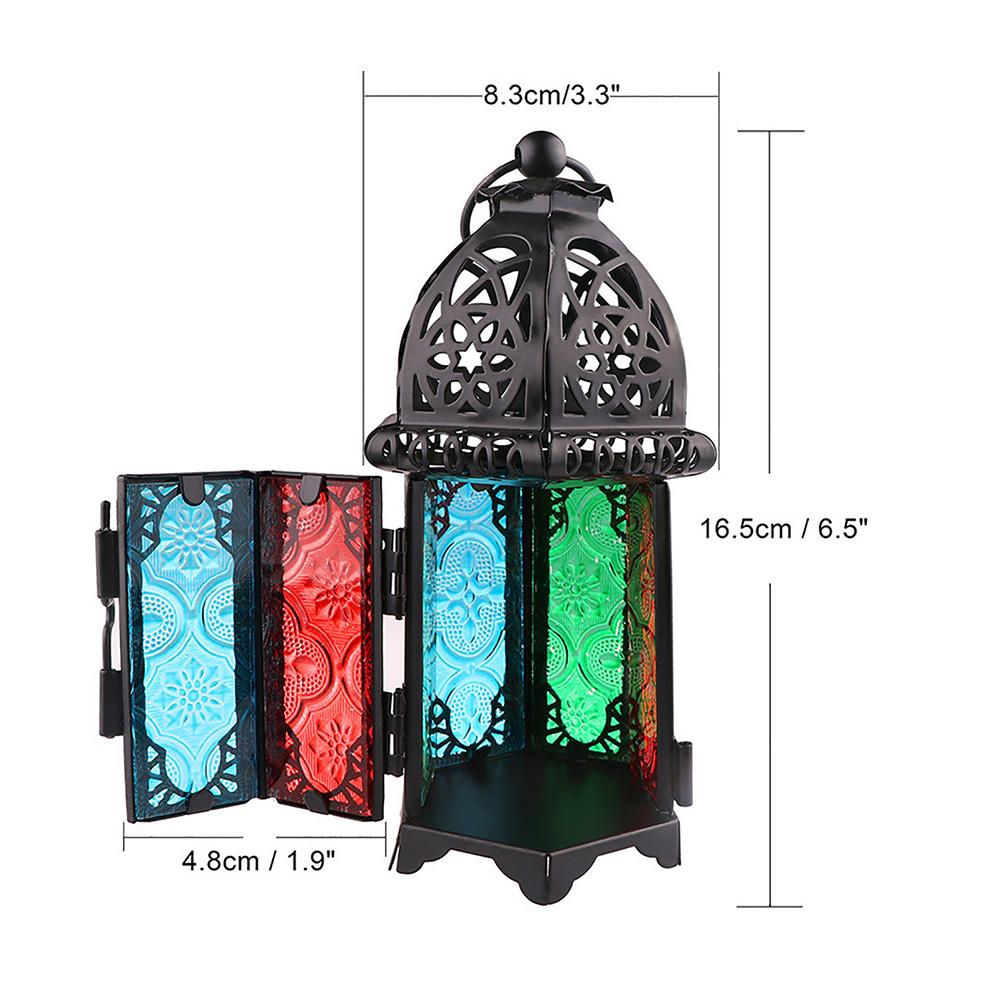 Moroccan-Hanging-Glass-Lantern-Tea-Light-Candle-Holders-Style-Home-Decor-Wedding thumbnail 5