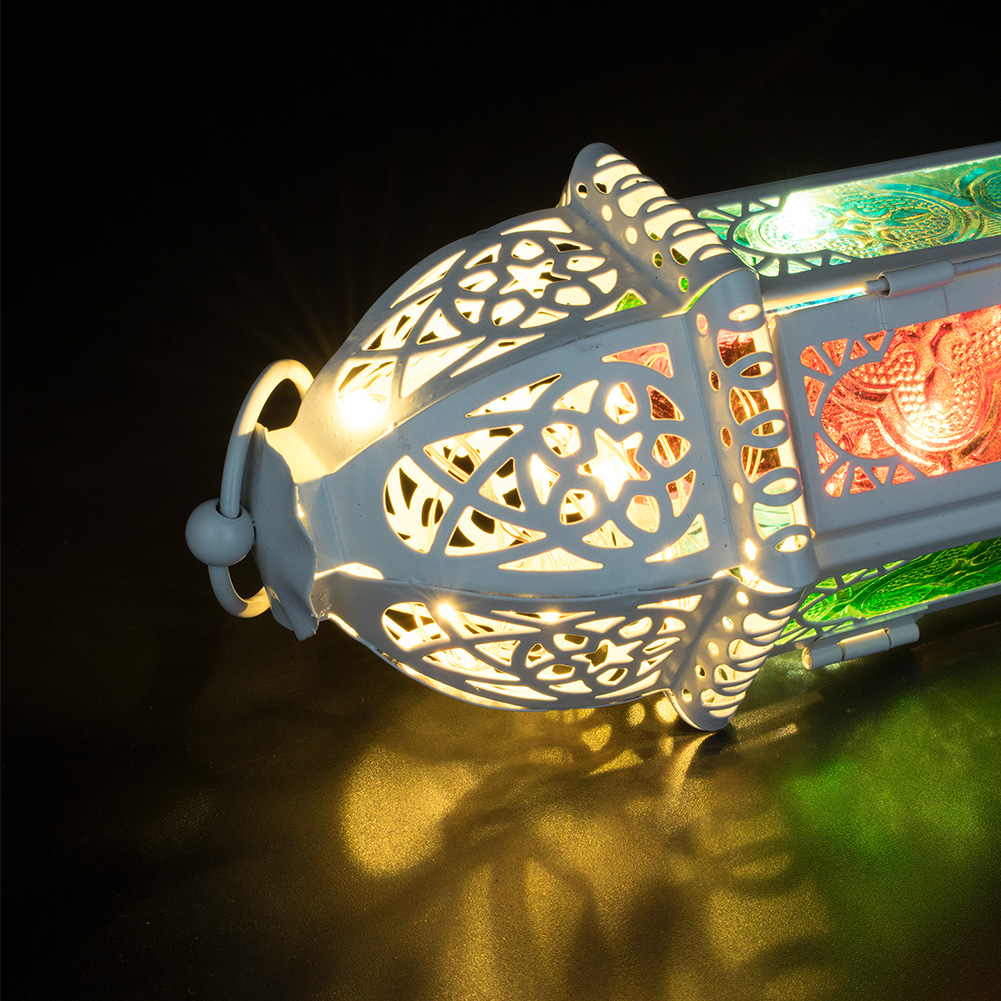Glass-Metal-Moroccan-Delight-Garden-Candle-Holder-Hanging-Lantern-Lamp-Outdoor thumbnail 6
