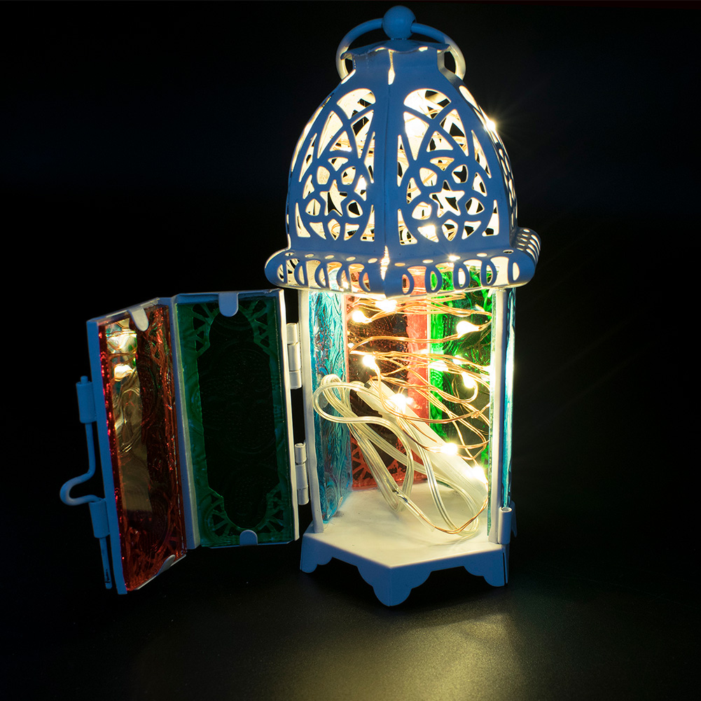 Glass-Metal-Moroccan-Delight-Garden-Candle-Holder-Hanging-Lantern-Lamp-Outdoor thumbnail 7