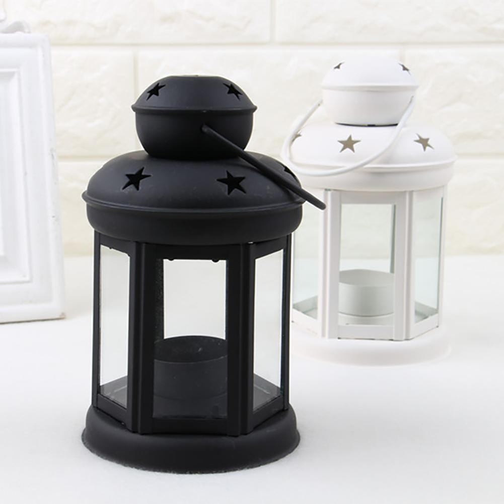 Vintage-Hanging-Glass-Lantern-TeaLight-Candle-Holders-Style-Home-Decor-Wedding thumbnail 3