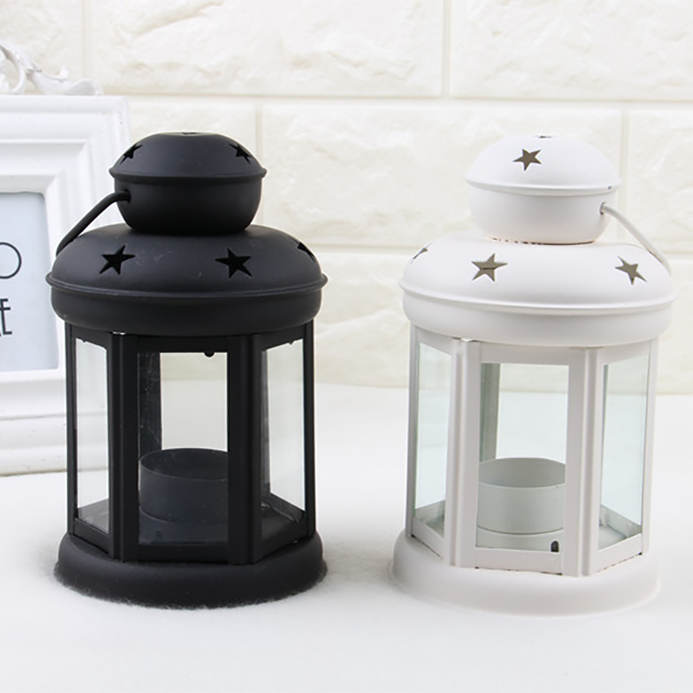 Vintage-Hanging-Glass-Lantern-TeaLight-Candle-Holders-Style-Home-Decor-Wedding thumbnail 8
