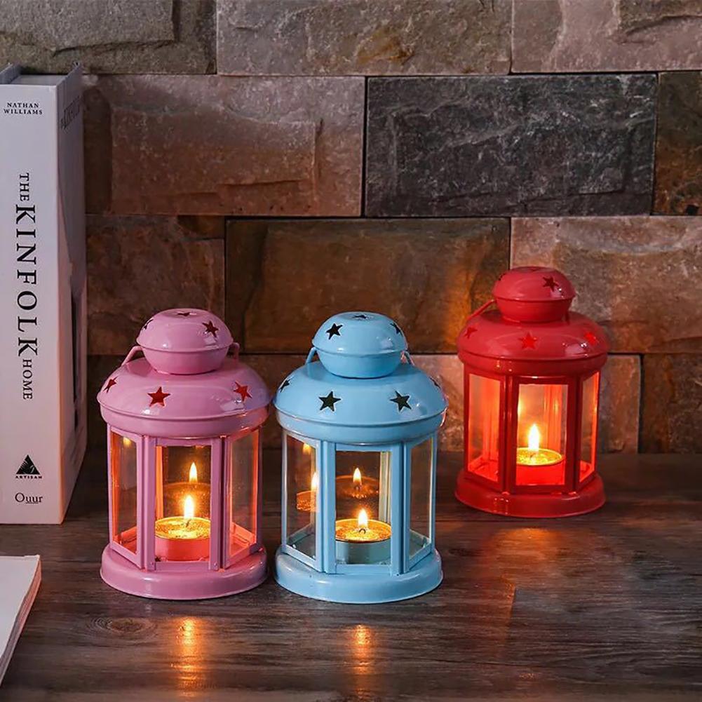 Vintage-Hanging-Glass-Lantern-TeaLight-Candle-Holders-Style-Home-Decor-Wedding thumbnail 5