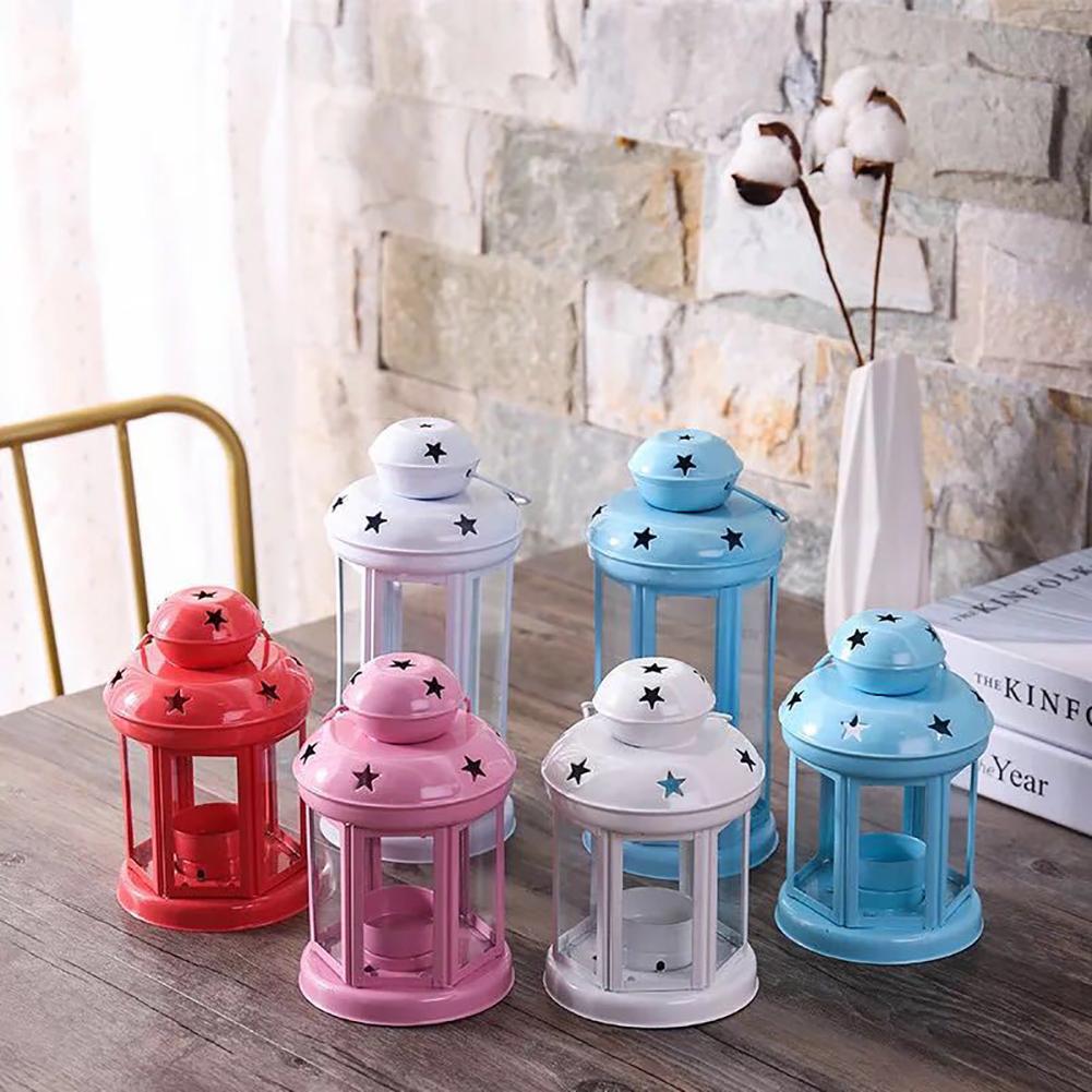 Vintage-Hanging-Glass-Lantern-TeaLight-Candle-Holders-Style-Home-Decor-Wedding thumbnail 7