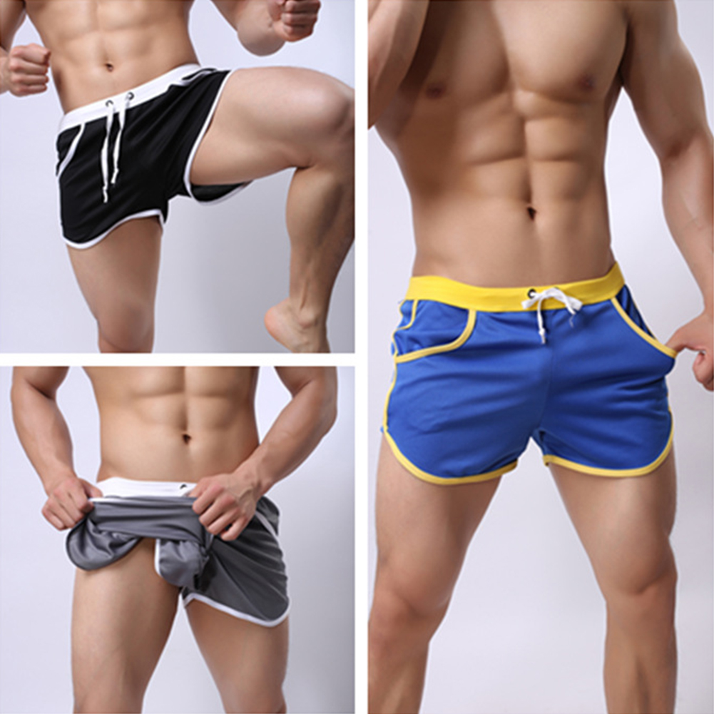 New-Mens-Sport-Shorts-Running-Casual-Pants-Gym-Racing-Short-Athletic-Drawstring thumbnail 2