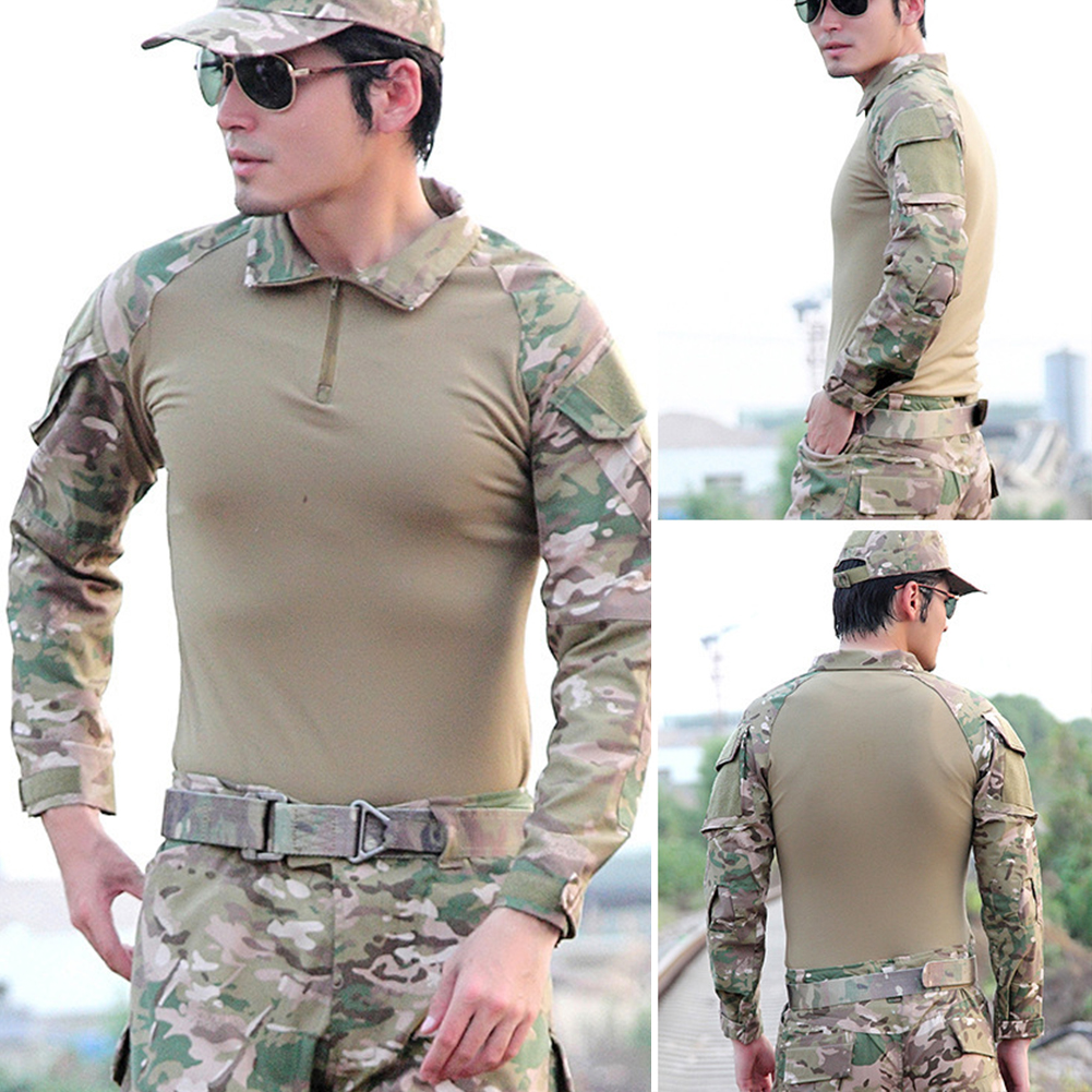 Camouflage-T-Shirt-Men-Long-Sleeve-Hunt-Outdoor-T-Shirt thumbnail 9