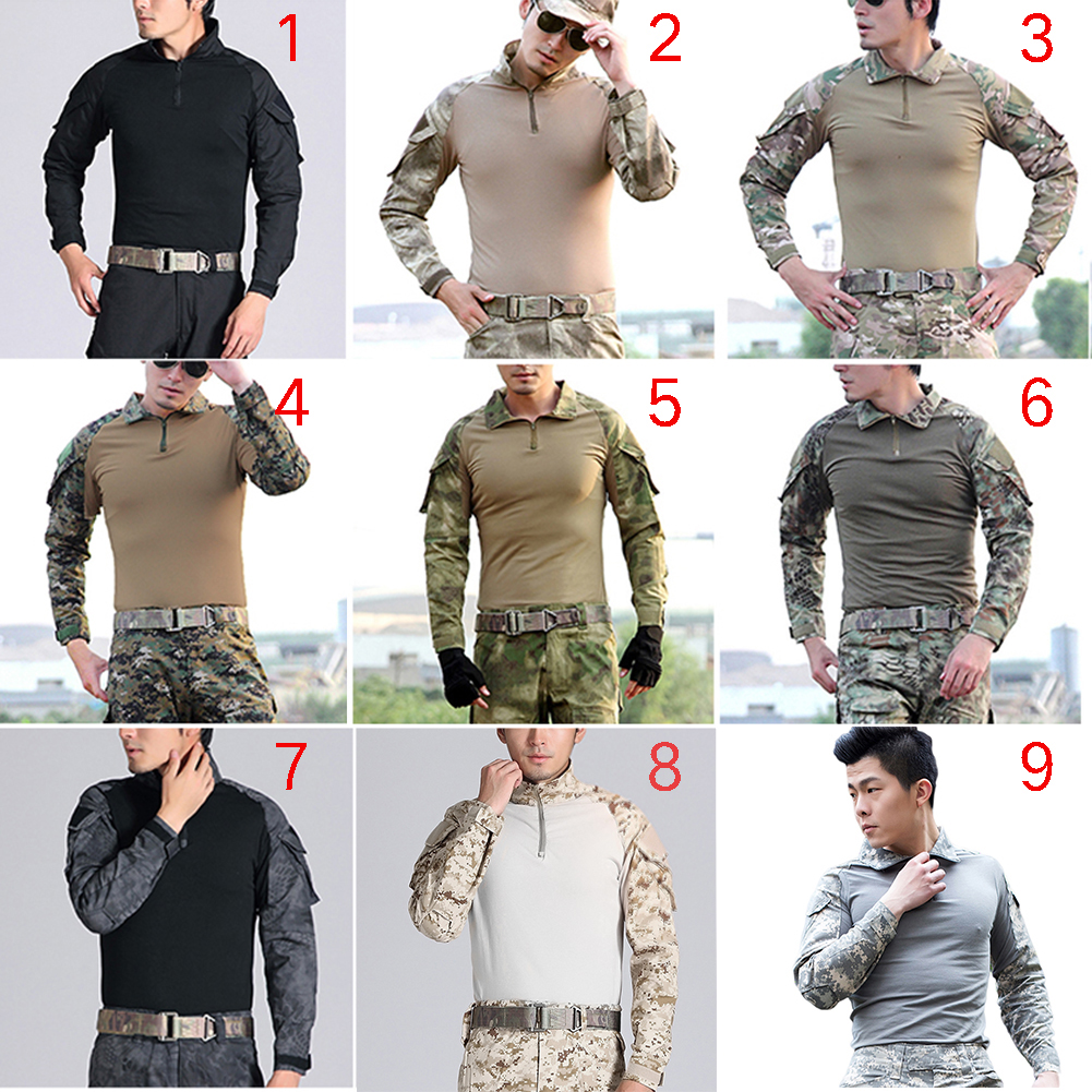 Camouflage-T-Shirt-Men-Long-Sleeve-Hunt-Outdoor-T-Shirt thumbnail 2