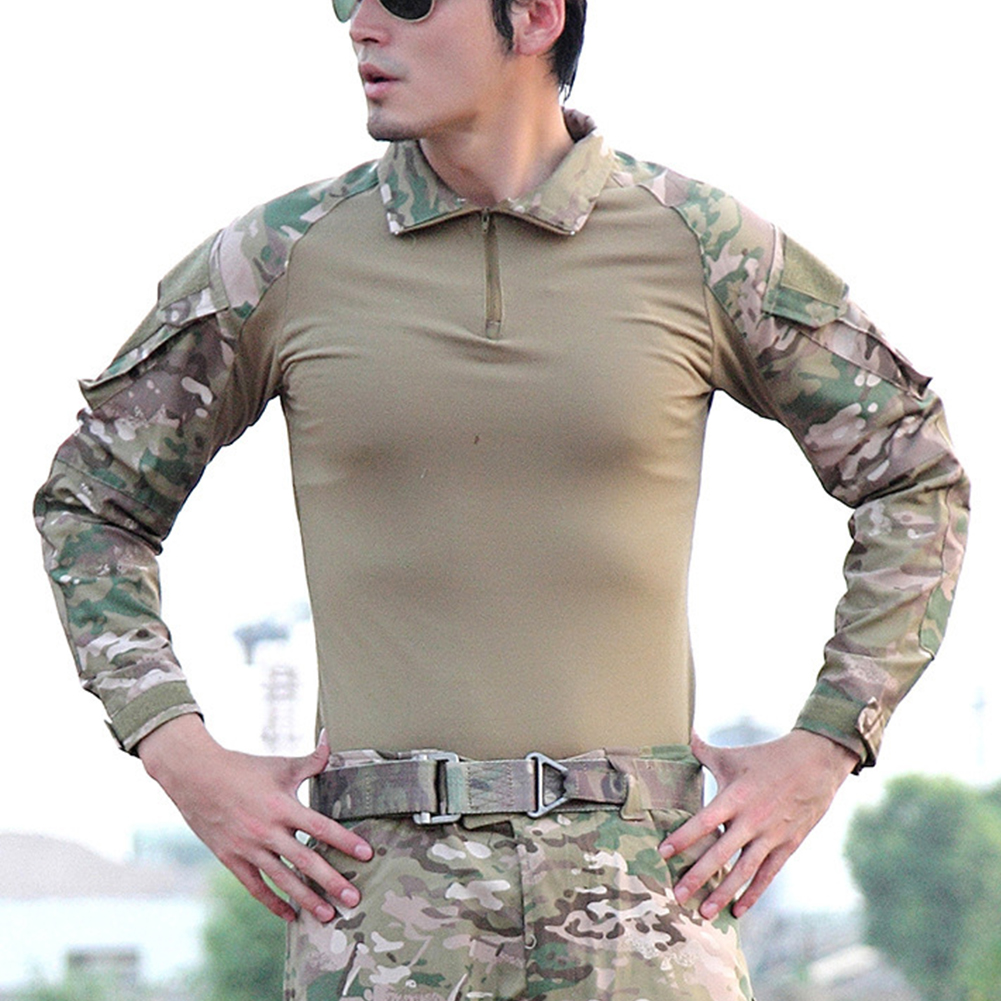 Camouflage-T-Shirt-Men-Long-Sleeve-Hunt-Outdoor-T-Shirt thumbnail 4