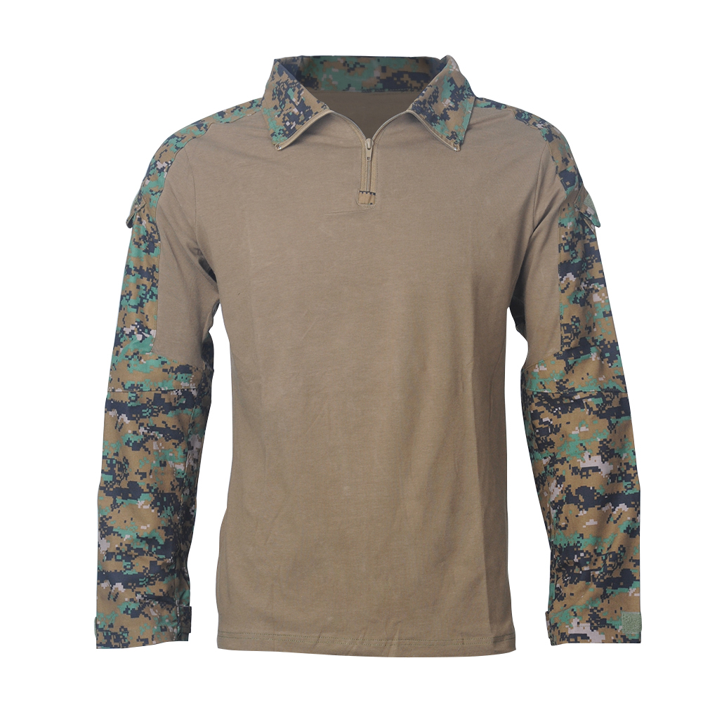 Camouflage-T-Shirt-Men-Long-Sleeve-Hunt-Outdoor-T-Shirt thumbnail 6