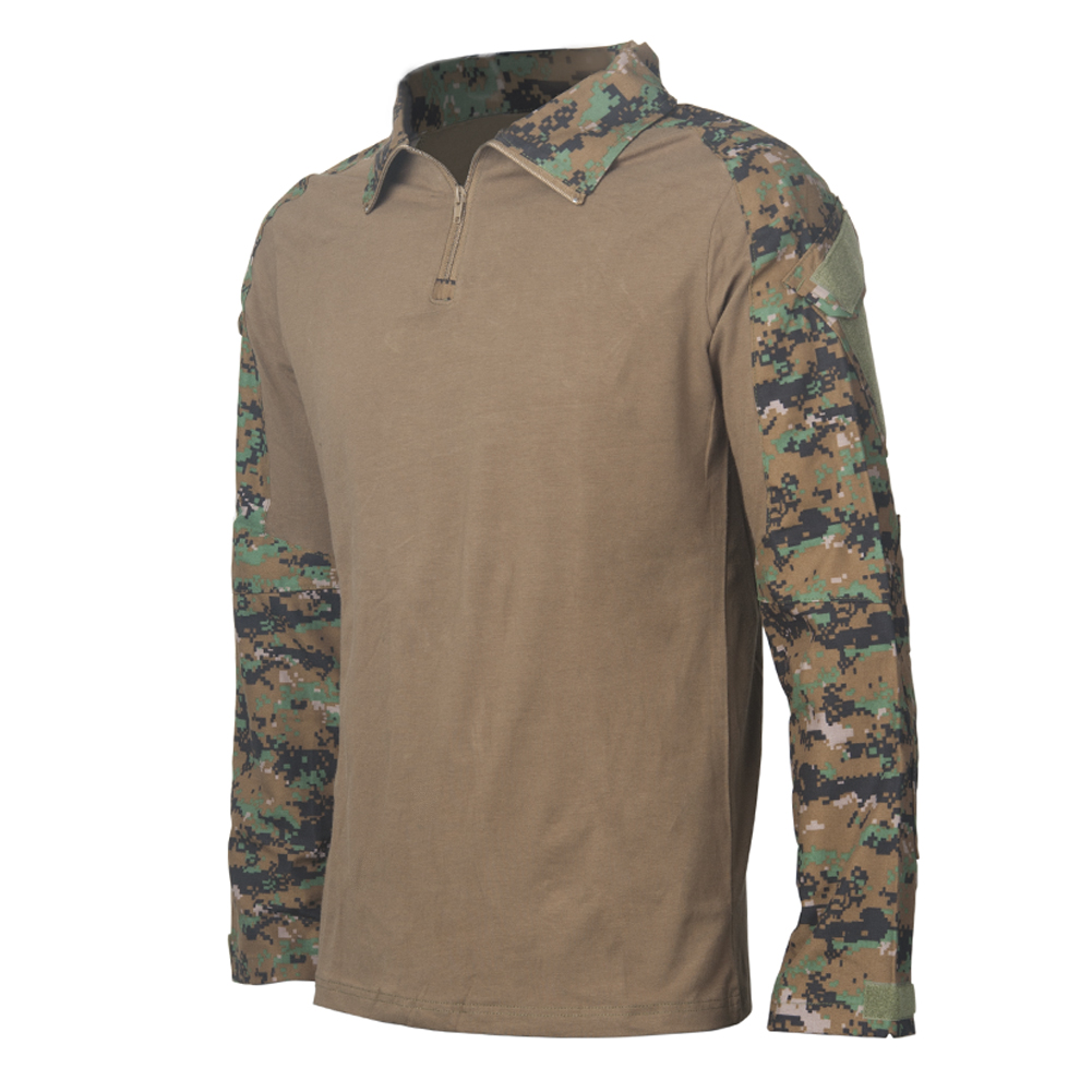 Camouflage-T-Shirt-Men-Long-Sleeve-Hunt-Outdoor-T-Shirt thumbnail 8
