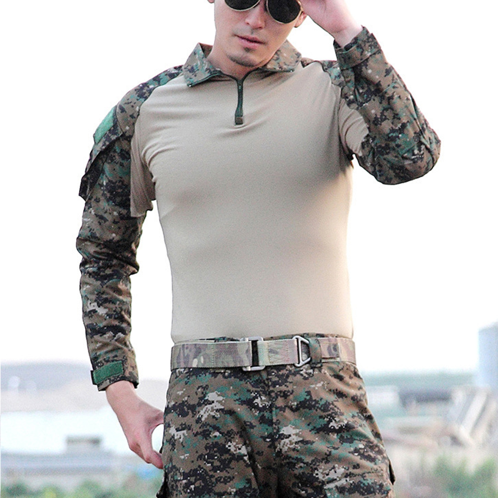 Camouflage-T-Shirt-Men-Long-Sleeve-Hunt-Outdoor-T-Shirt thumbnail 12