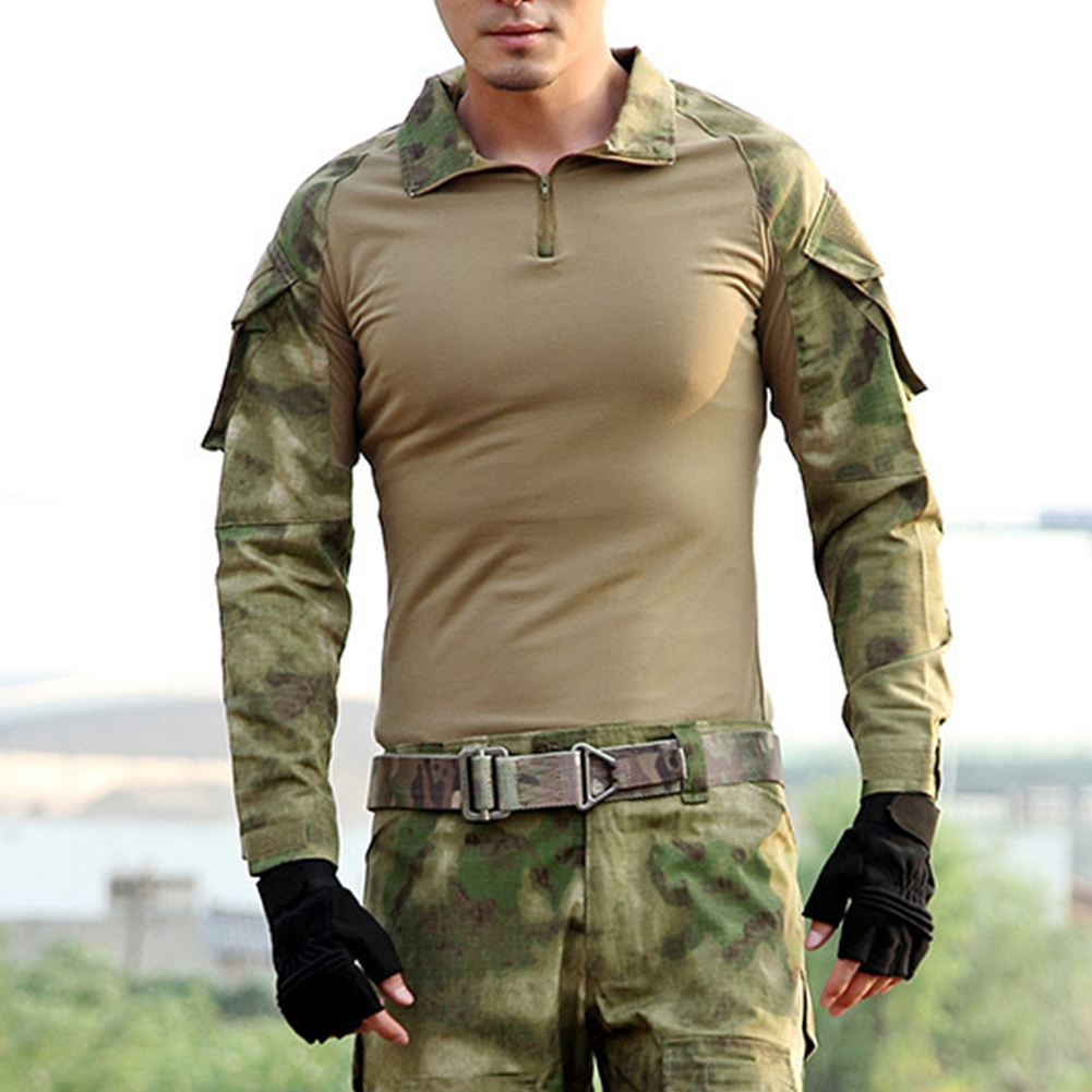 Camouflage-T-Shirt-Men-Long-Sleeve-Hunt-Outdoor-T-Shirt thumbnail 11