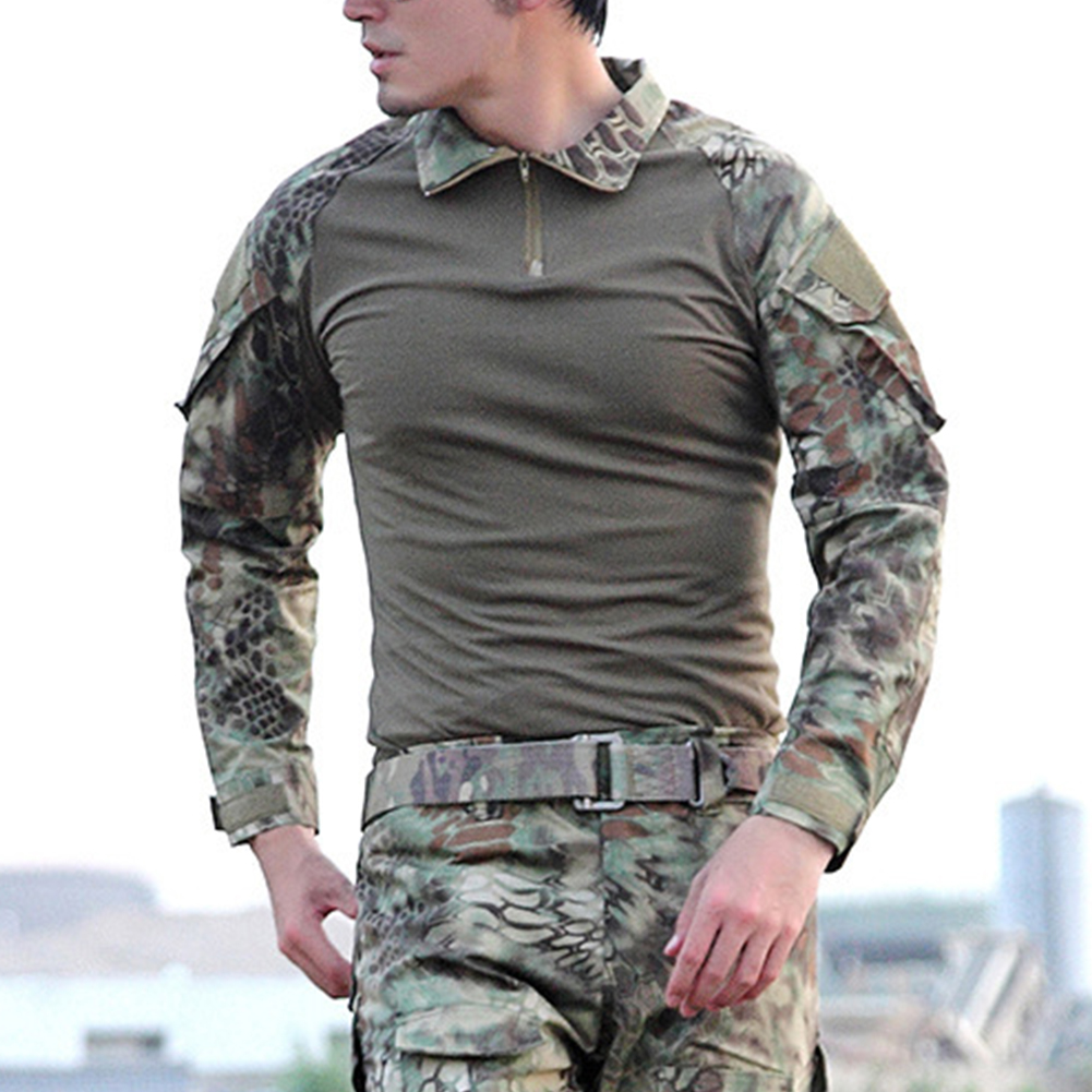 Camouflage-T-Shirt-Men-Long-Sleeve-Hunt-Outdoor-T-Shirt thumbnail 7