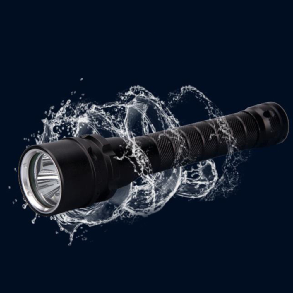 Waterproof-LED-Underwater-Torch-Flashlight-Travel-Aluminium-Alloy-Glare-Diving thumbnail 4