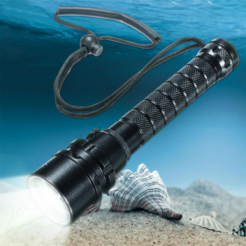 Waterproof-LED-Underwater-Torch-Flashlight-Travel-Aluminium-Alloy-Glare-Diving thumbnail 9