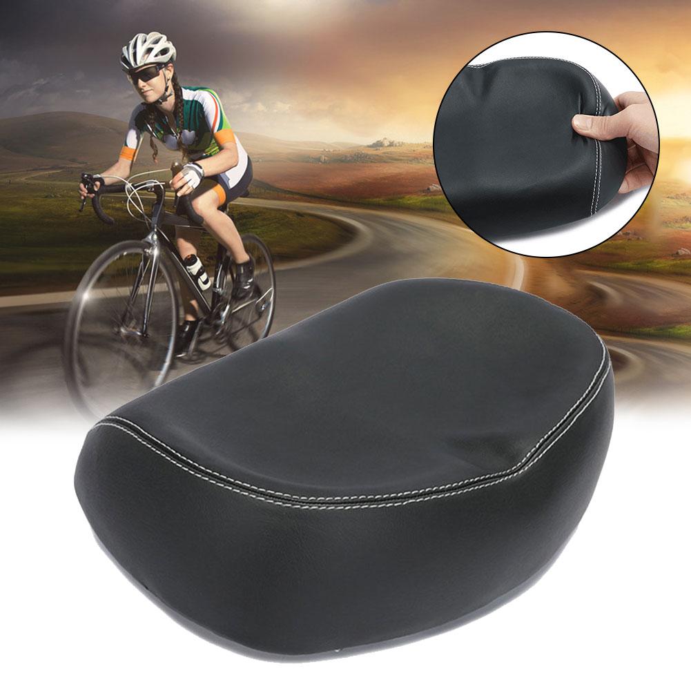 PU-Seat-Black-Big-Ass-Bike-Saddle-Wide-Large-Bike-Cycling-Noseless-Soft-PVC