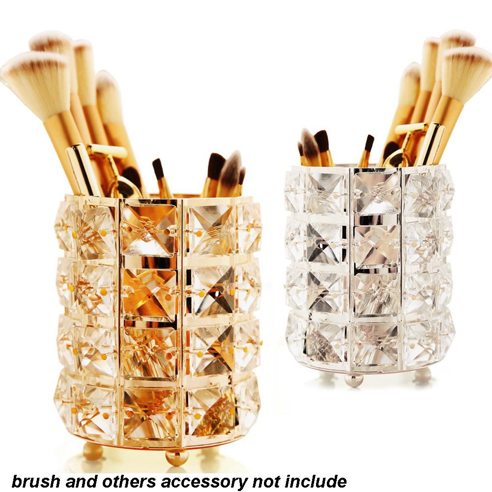 Crystal Makeup Brush Holder Pen Pencil Holder Storage Organizer Display Case 9