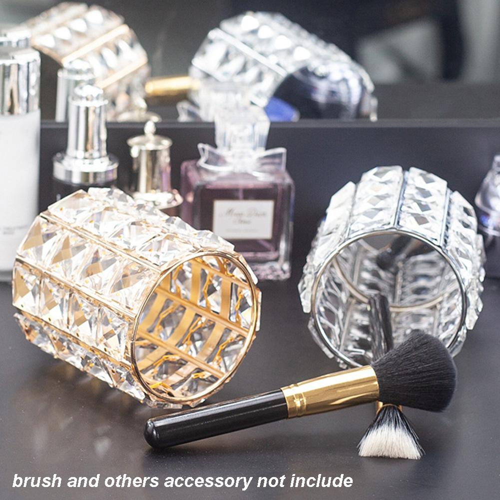 Crystal Makeup Brush Holder Pen Pencil Holder Storage Organizer Display Case 10