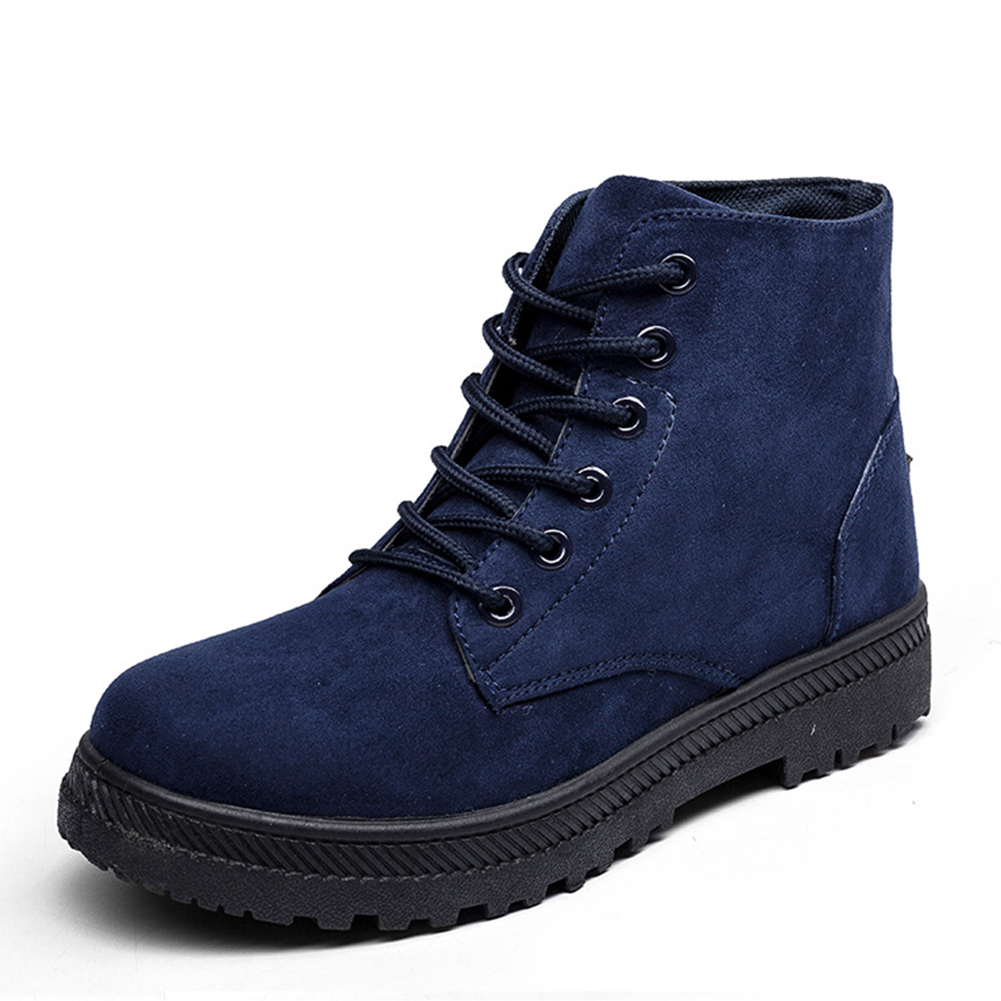 Fashion-Women-Lace-up-Short-Boots-Spring-and-Autumn-Casual-Tide-Flat-Ankle-Shoes