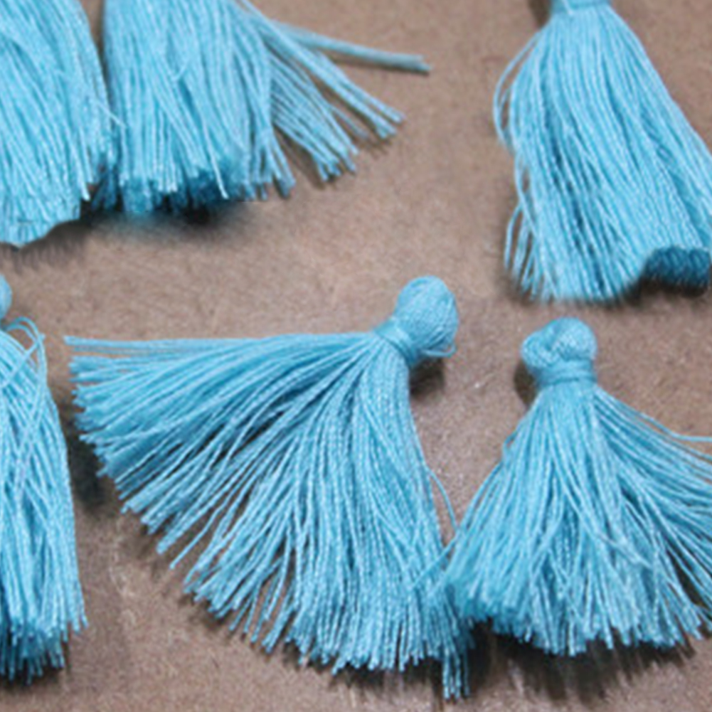 10Pcs Multicolor Cotton Tassel Charm Necklace Earring Jewelry Straps Keychain