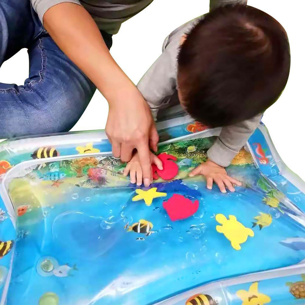 1-5Pcs Baby PVC Inflatable Patted  Water Play Pad Time Toy Water Filled Cushion  online retailers