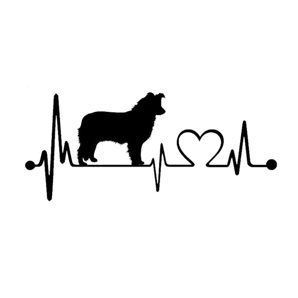Funny-Waterproof-Car-Sticker-Simple-Reflective-Dog-Heartbeat-Adhesive-Stylish