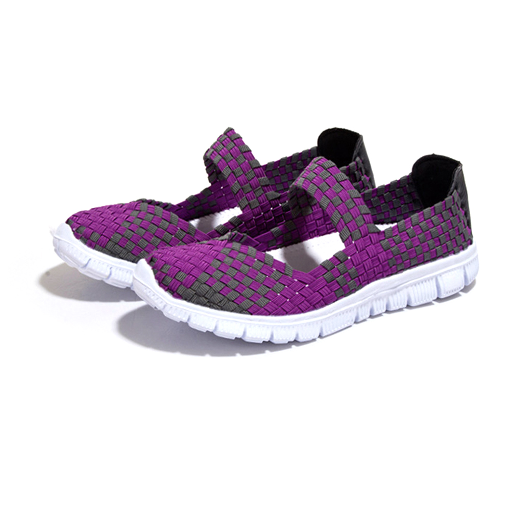 Colorful Women Athletic Breathable Sneakers Sport Casual knitting Running Shoes