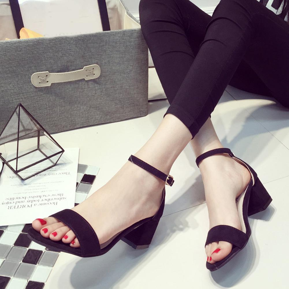 Summer Women Sandals Open Toe Flip Flops Women's Sandles Medium Heel Shoes