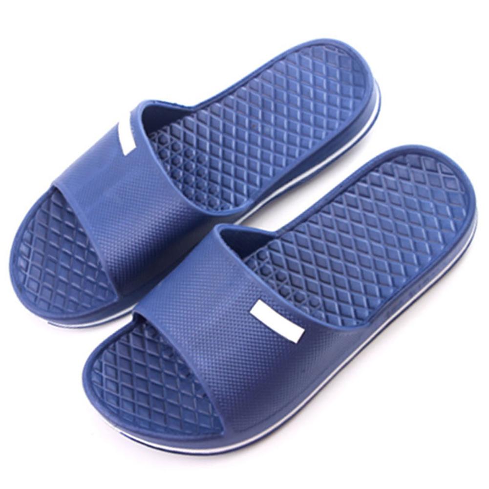 Mens-Slip-on-Summer-Slippers-Bathroom-Sandals-Home-Beach-Shower-Shoes-Mules