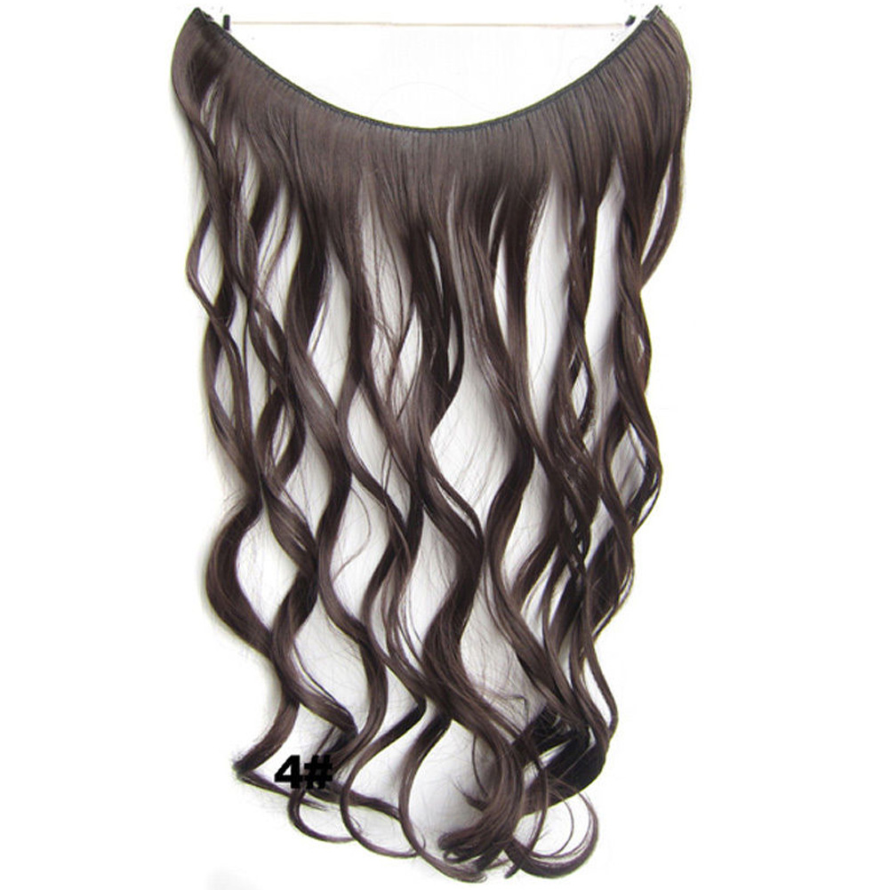 Fashion-Invisible-Wire-Piece-Secret-Miracle-Wavy-Curly-Hair-Piece thumbnail 13