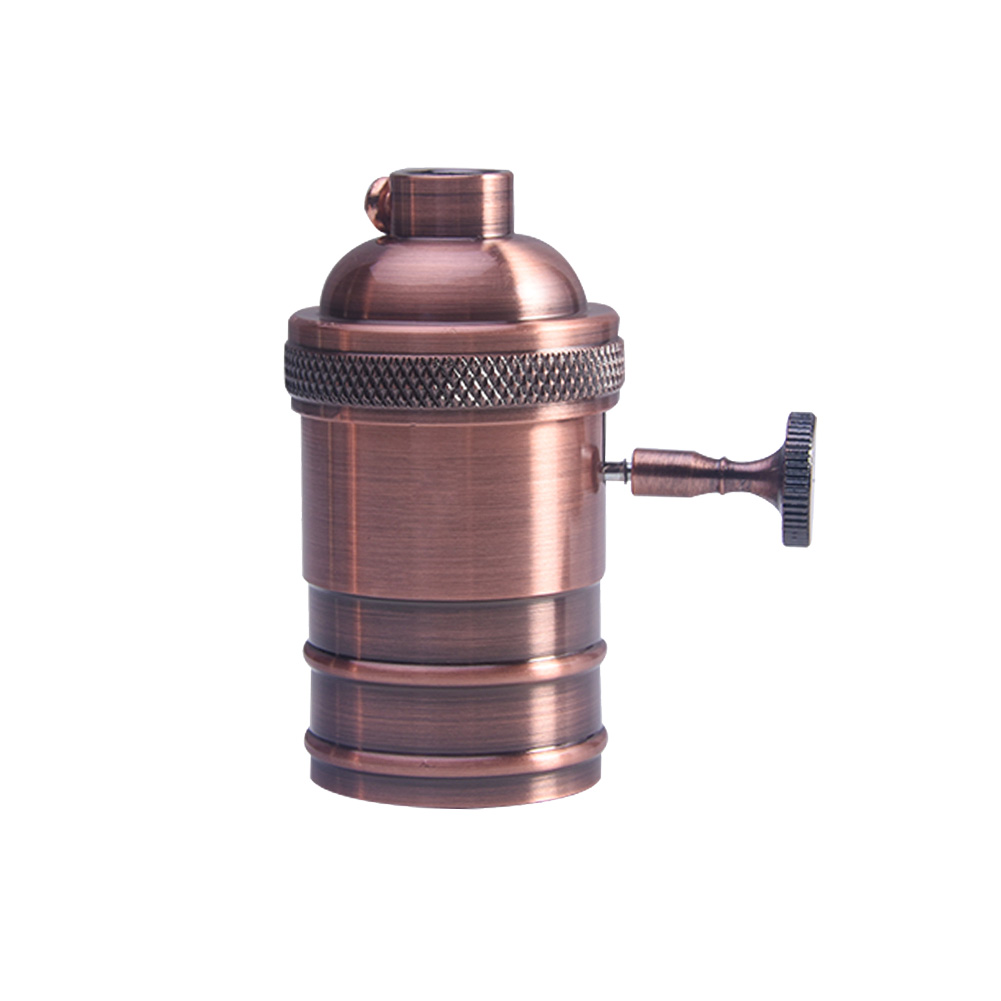 Holder-Retro-Copper-Light-Socket-Antique-E26-E27-Bulb-Light-Brass-Lamp thumbnail 14