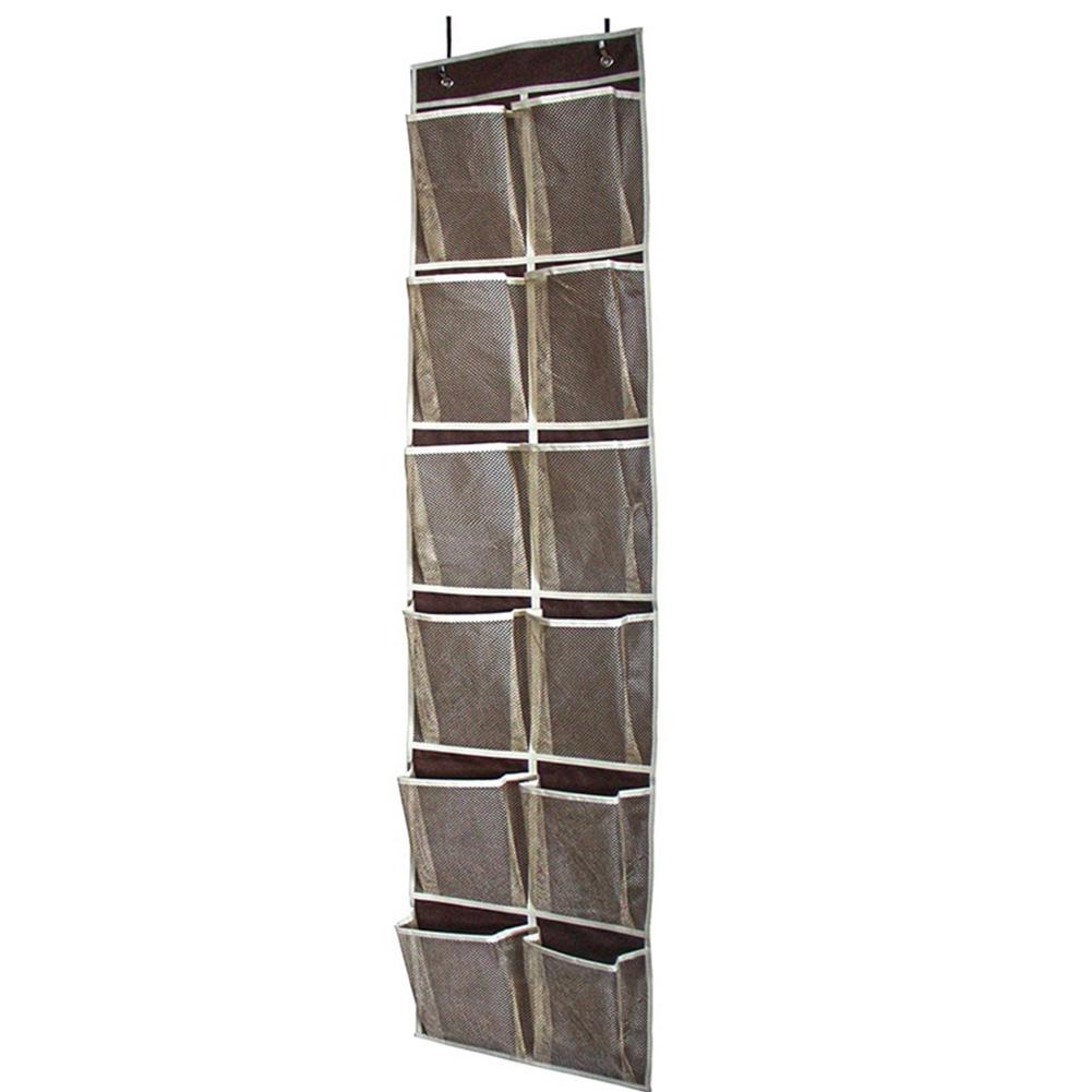 Over-Door-Shoe-Organizer-Closet-Holder-Shelf-Storage-Hanging-Bag-Mesh-Pockets thumbnail 13