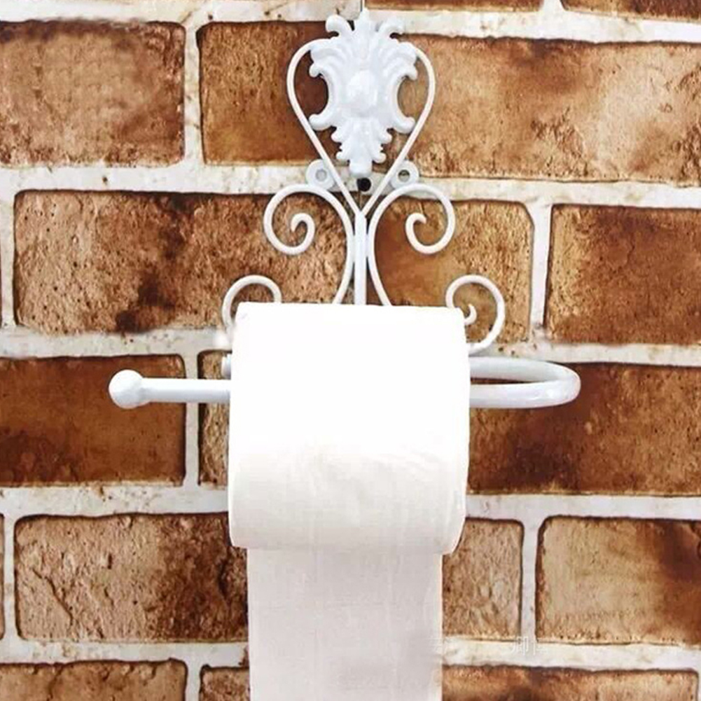 Vintage-Iron-Toilet-Paper-Towel-Roll-Holder-Home-Bathroom-Wall-Mount-Rack-Shelf