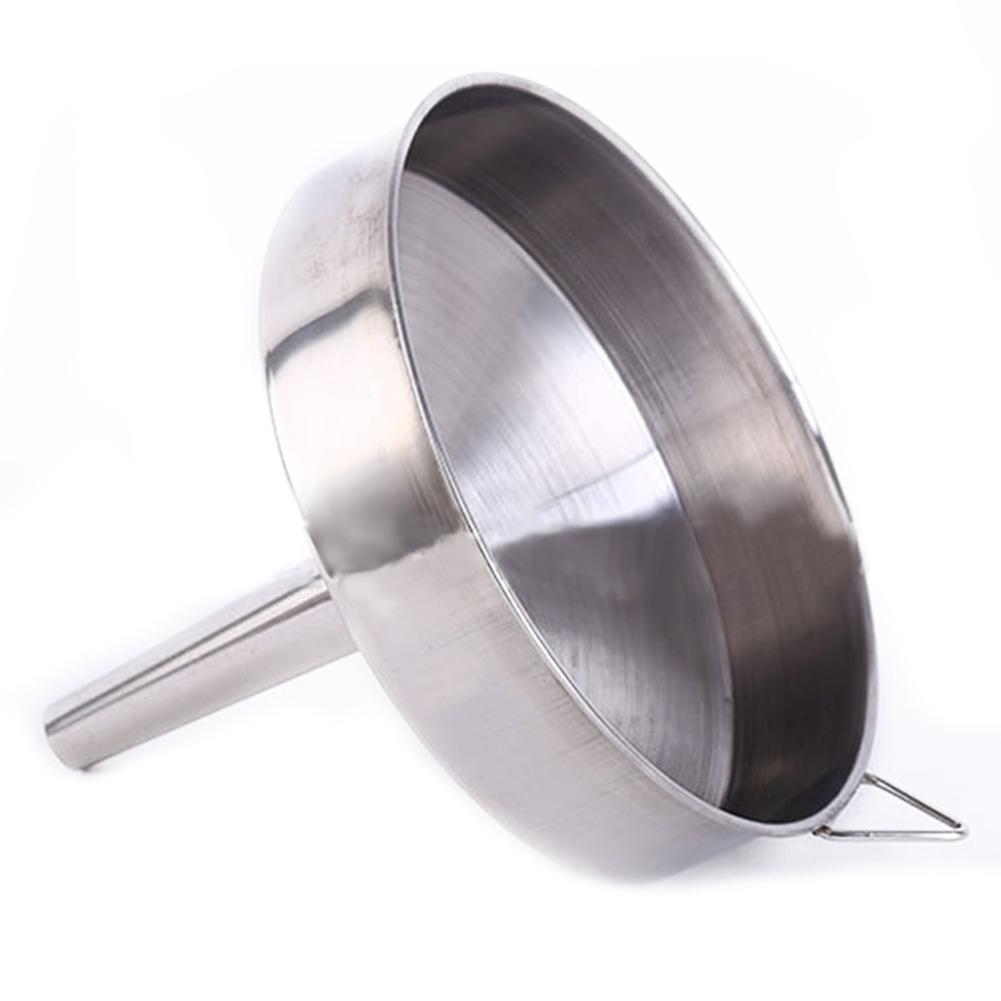 Edelstahl-Ol-Einfuelltrichter-fluessiger-Trichter-Flaschentrichter-Kueche-Werkzeuge